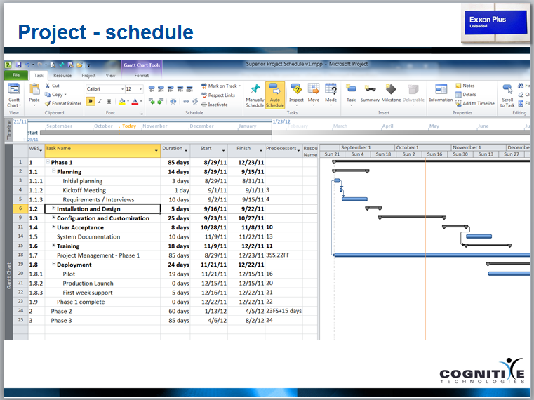 word 2007 project schedule