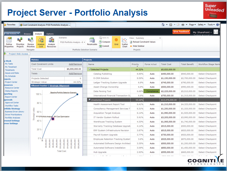 Project Server Portfolio Analysis