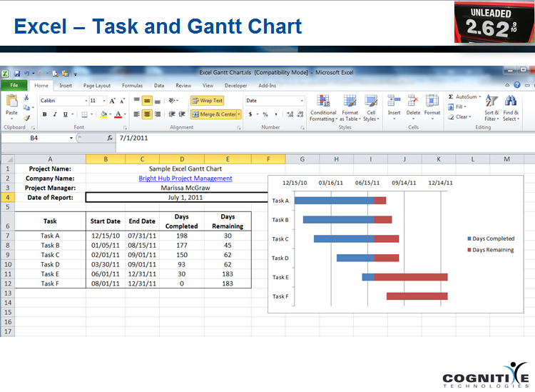 project tracking excel